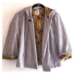Anthropologie Tulle Mod Cloth Jacket Sz Large